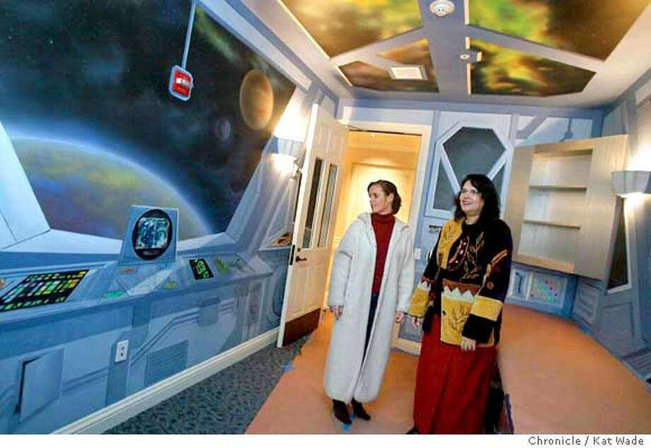 HOSPICE_0019_KW.jpg  Executive Director Michele Fort� and Director of Programs and Services, Christy Torkildson show off the computer room with a spaceship motif at the soon-to-open Hospice for terminally ill children. Families of children with terminal diseases will have a place of respit at the George Mark House, touted as the first independent facility for terminally ill children on 12/29/03 in San Leandro. The home will open in February.  Kat Wade / The Chronicle MANDATORY CREDIT FOR PHOTOG AND SF CHRONICLE/ -MAGS OUT Photo: Kat Wade
