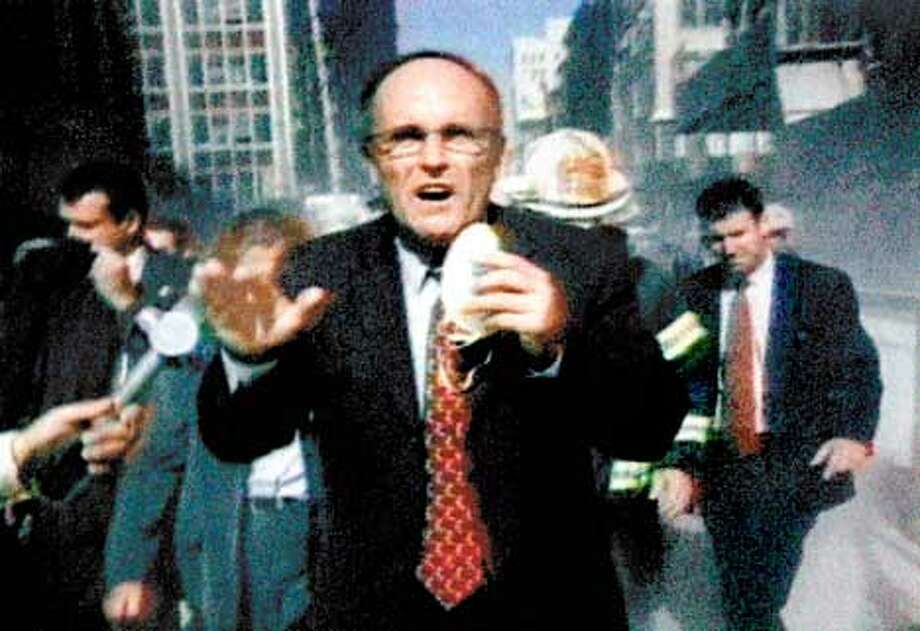 FROM HBO special on 9/11 IN MEMORIAM: NEW YORK CITY, 9/11/01. photo: NYPD IN MEMORIAM: NEW YORK CITY, 9/11/01: Mayor Rudolph Giuliani