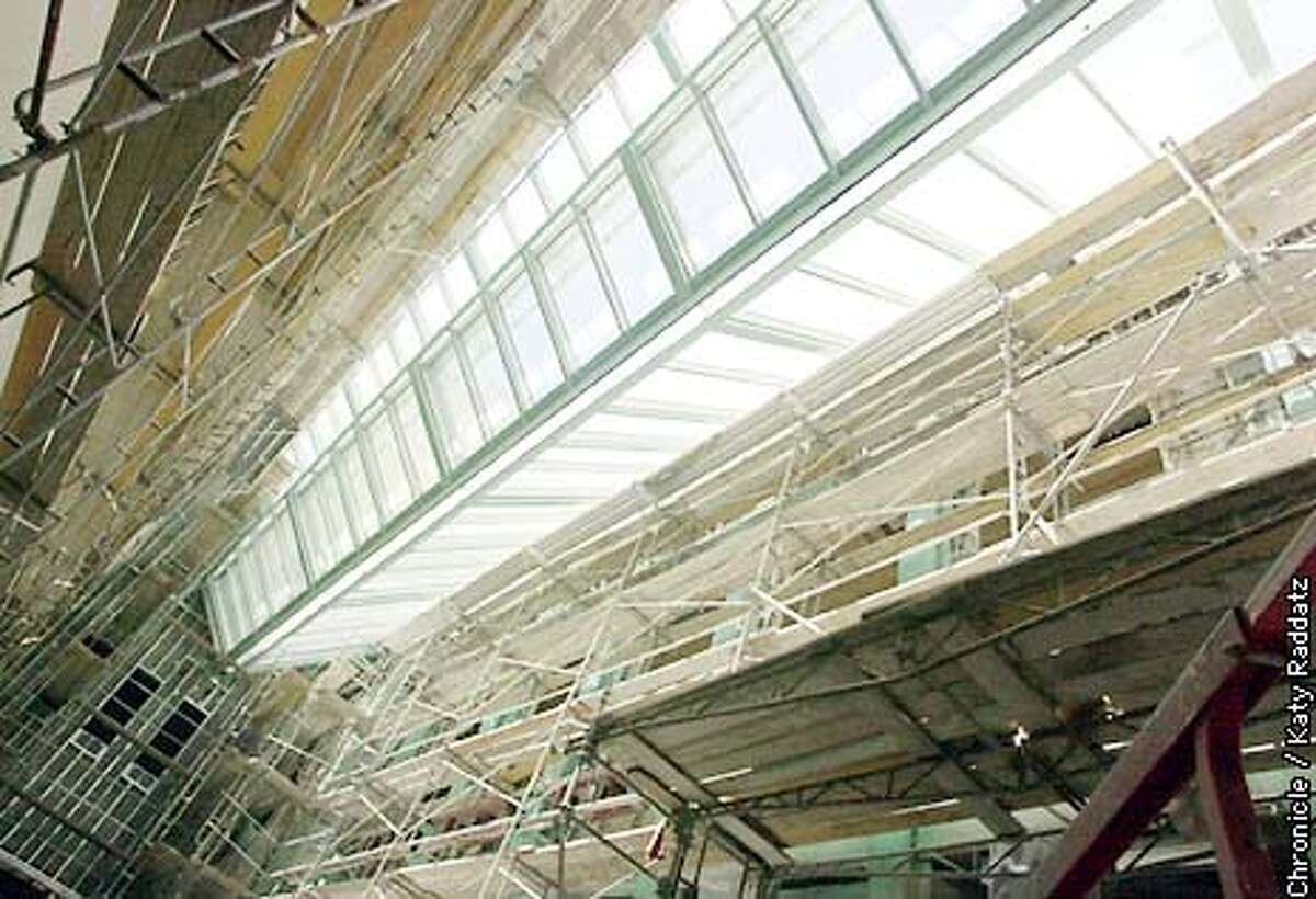 PHOTO BY KATY RADDATZ--THE CHRONICLE New Asian Art Museum tour. SHOWN: the massive skylight at the top of the building.