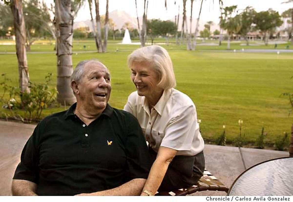 Former 49ers quarterback John Brodie, 68, had a horrible stroke 3 years ago, and has spent years doing rehab to regain physical strength as well as some of the speech he lost. Brodie is seen here with his wife, Sue Brodie, in their La Quinta, Ca., home on Thursday, December 18, 2003. Photo taken on 12/18/03, in La Quinta, CA Photo by Carlos Avila Gonzalez / The San Francisco Chronicle