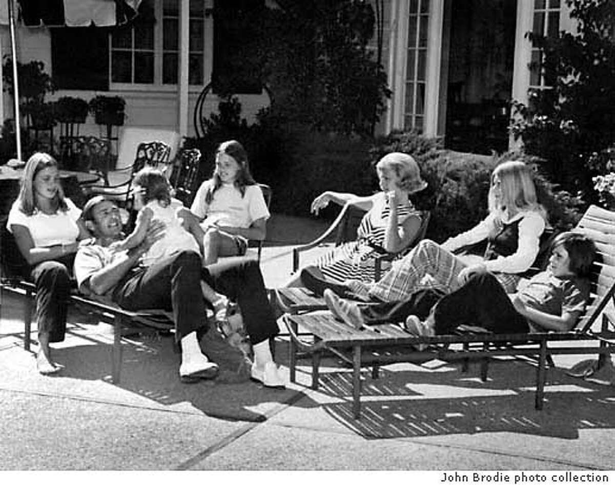 Former 49ers quarterback John Brodie, 68, had a horrible stroke 3 years ago, and has spent years doing rehab to regain physical strength as well as some of the speech he lost. Brodie is seen here in a photo from the his archive of photos with his entire family taken c. 1974. Photo copied on 12/18/03, in La Quinta, CA Handout / John Brodie photo collection Originally taken by (Unknown)