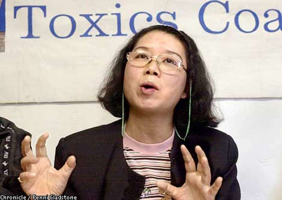 Ko-Ping Liang, a former RCA employee from Taiwan on a U.S. tour, complains that the company exposed workers to toxic chemicals. They closed RCA and left the country without any reprieve. Press conference took place at the Toxic Coalition in San Jose on May 23, 2002.  Photo by Penni Gladstone/San Francisco Chronicle Photo: Penni Gladstone