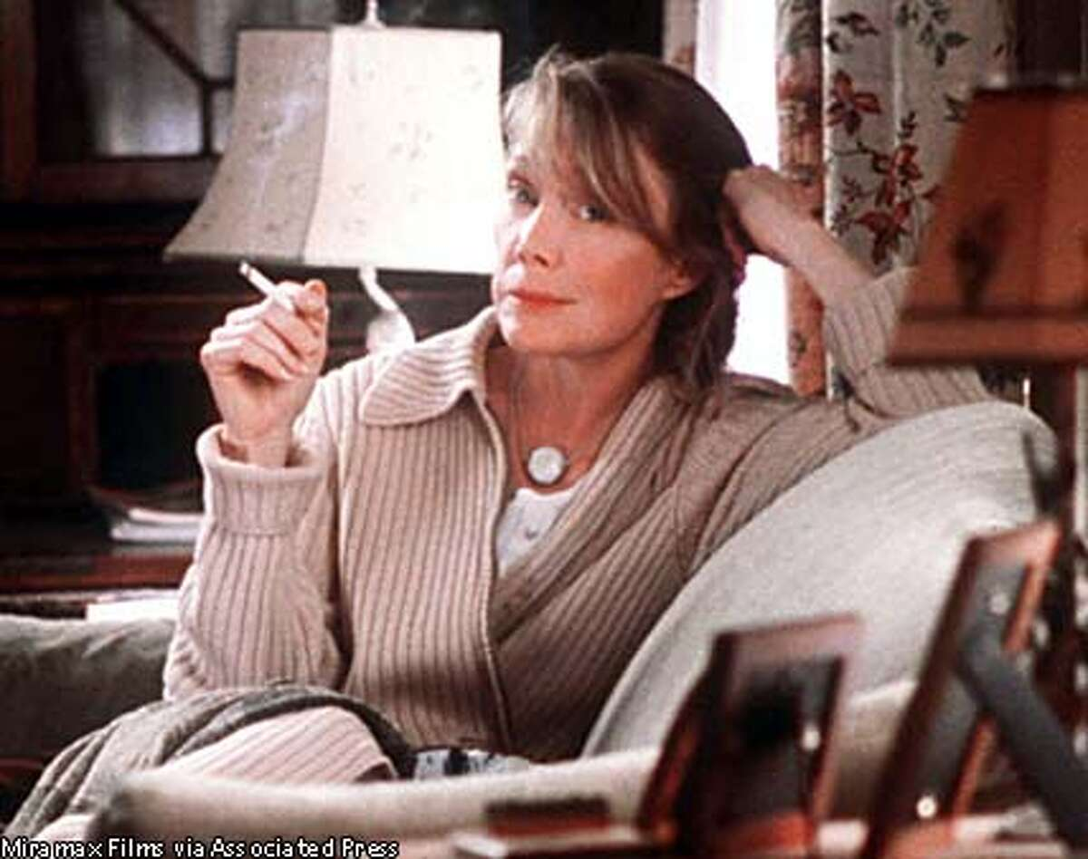Sissy Spacek in ''In the Bedroom'': Lighting up to cope with grief or stress. Miramax Films photo via Associated Press