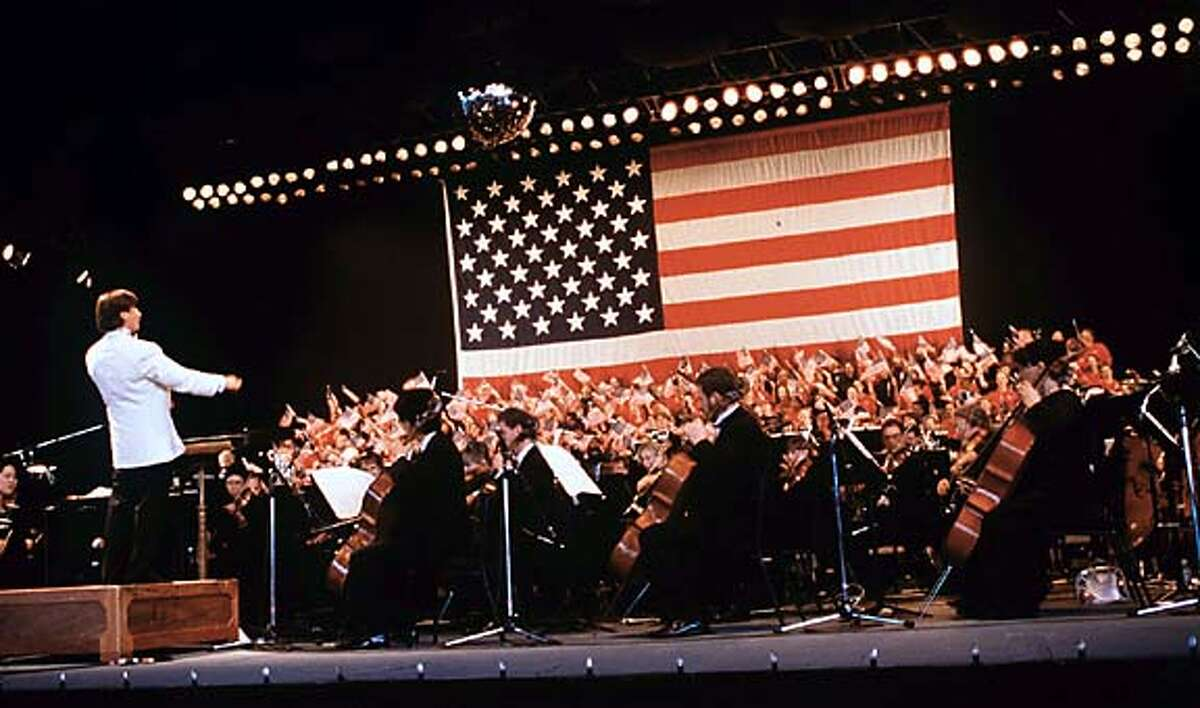 Jekowsky conducts the California Symphony in a Fourth of July celebration at Concord Pavilion.