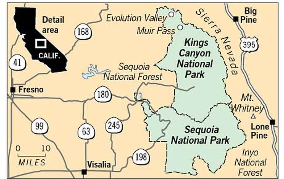 Sequoia National Park. Chronicle Graphic