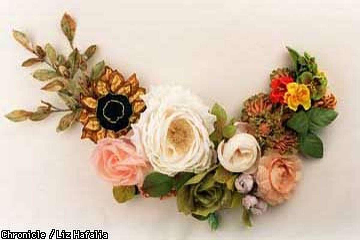 Fabric flowers. Liz Hafalia