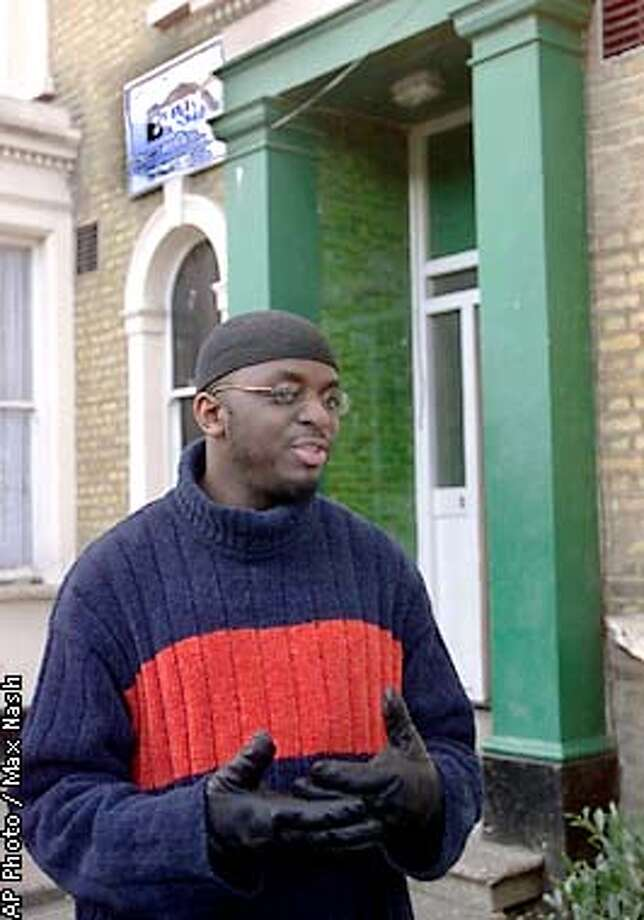 Abdul Haqq Baker, chairman of the Brixton Mosque, London, outside his mosque Wednesday Dec. 26, 2001. Abdul Haqq Baker confirmed that alledged American Airlines trans-Atlantic bomb suspect Richard C. Reid attended his mosque. (AP Photo/Max Nash) Photo: MAX NASH