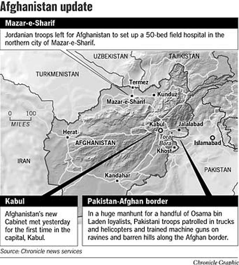 Afghanistan Update. Chronicle Graphic