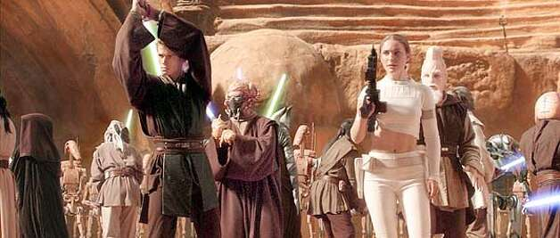 Anakin Skywalker (Hayden Christensen) and Padme Amidala (Natalie Portman) in Star Wars: Episode II Attack of the Clones.  (HANDOUT PHOTO) Photo: HANDOUT