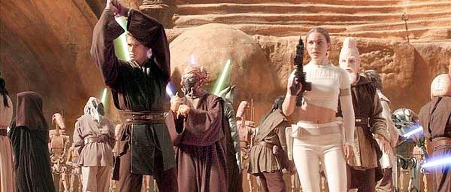 "Anakin Skywalker (Hayden Christensen) and Padme Amidala (Natalie Portman) in ""Star Wars Episode II: Attack of the Clones."" Photo: HANDOUT"
