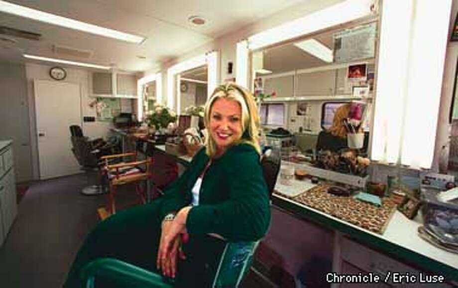 Makeup artist Tricia Sawyer, Sharon Stone's makeup artist,in her makeup trailer during the filming of a new movie being shot at Mare Island.  Photo by Eric Luse Photo: Eric Luse