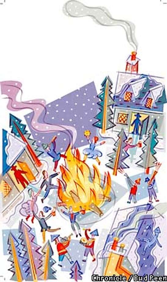 Yuletide of Yesteryear: An unruly Colonial carnival season has been transformed into the quintessential American holiday. Chronicle graphic by Bud Peen