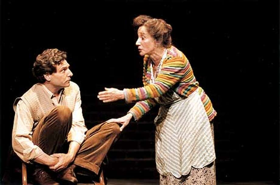 Olympia Dukakis and Marco Barricelli in FOR THE PLEASURE OF SEEING HER AGAIN. Photos by Ken Friedman  (HANDOUT PHOTO) Photo: HANDOUT