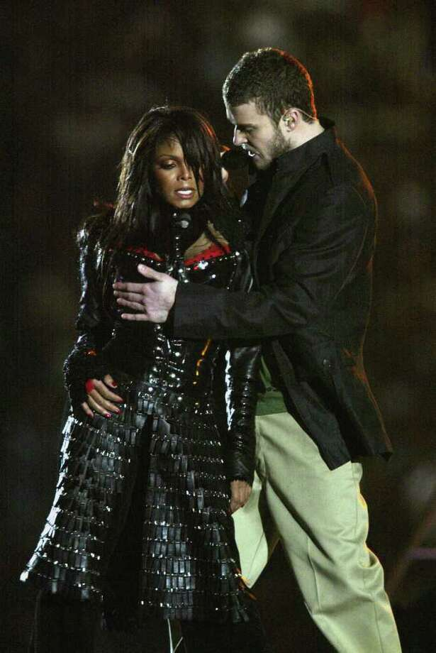 "1. ""Wardrobe malfunction"" –  Super Bowl XXXVIII: Believe it or not, that phrase didn't enter pop culture until Feb. 1, 2004. That was the fateful date that Justin Timberlake exposed Janet Jackson's breast, adorned with nothing but a pasty, during the Super Bowl halftime show on CBS. The incident resulted in $550,000 fine levied by the Federal Communications Commission against CBS. There's no doubt it was the most talked about moment – on or off the field – in Super Bowl history.   Photo: Donald Miralle, Getty Images / 2004 Getty Images"
