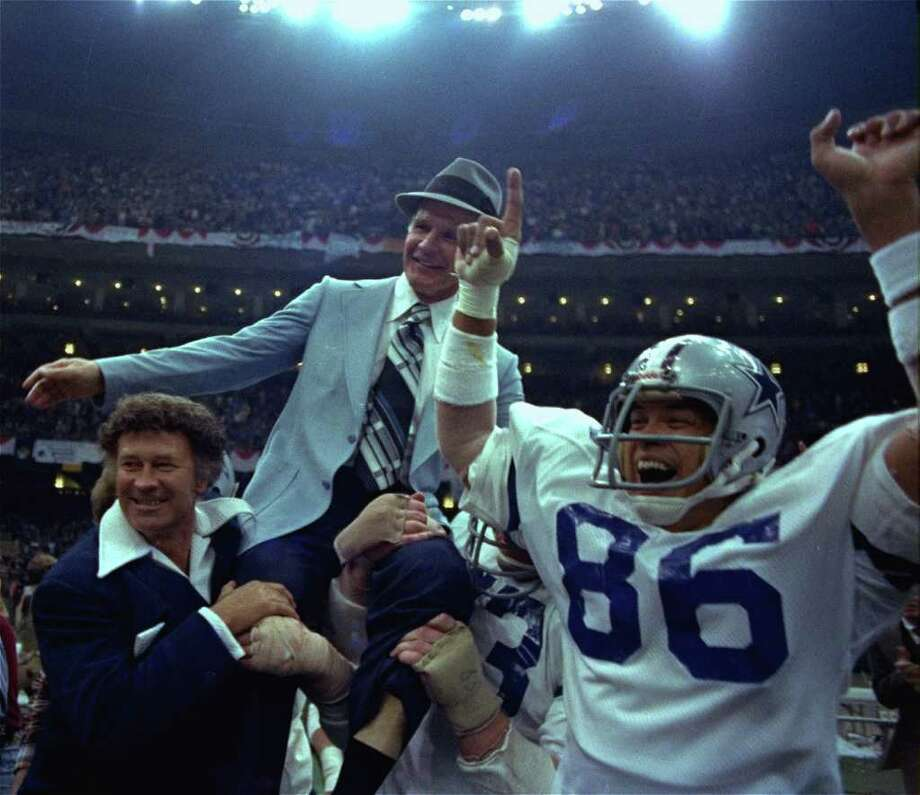 18. Super crasher – Super Bowl XII:Famous Super Bowl gatecrasher Dion Rich, who snuck into more than 30 Super Bowls, helped carry head coach Tom Landry off the field after the Cowboys beat the Broncos. Photo: AP / 1978 AP