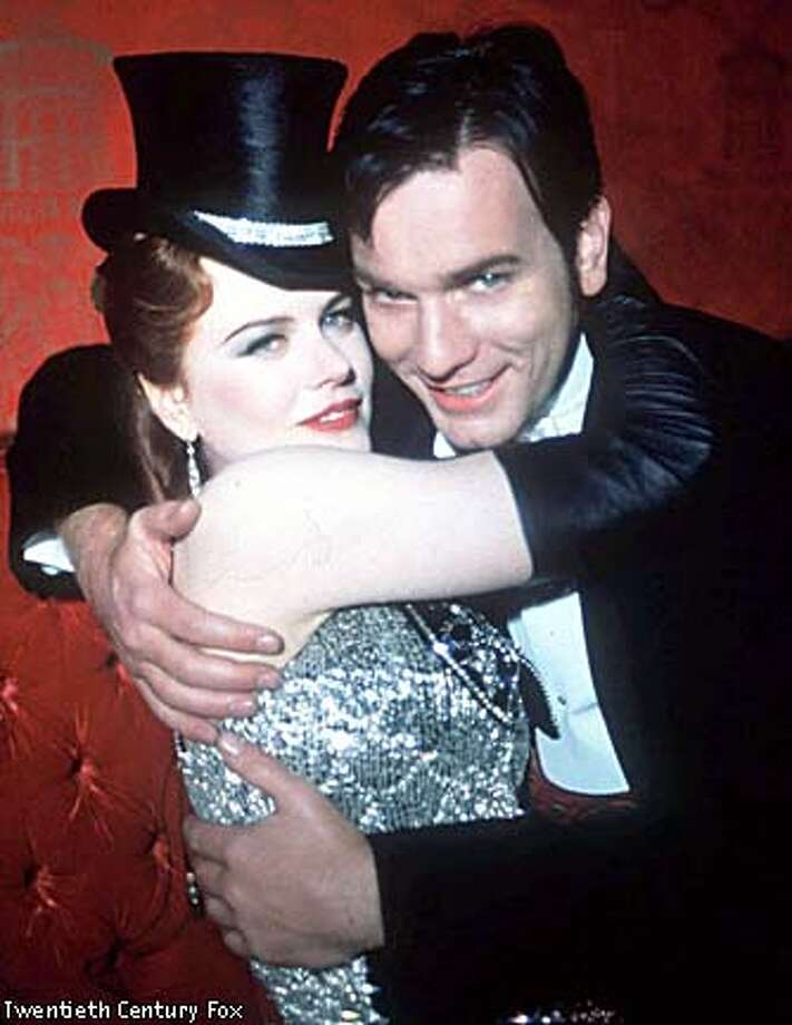"Nicole Kidman and Ewan McGregor play lovers in ""Moulin Rouge."" Photo courtesy of Twentieth Century Fox"