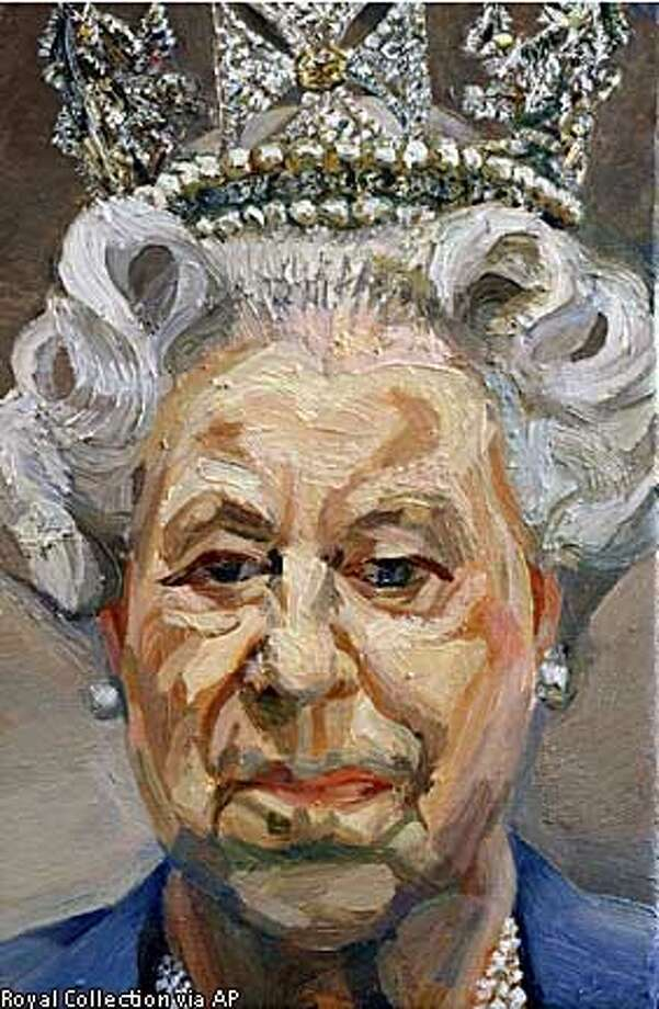 Lucian Freud's portrait of a glum-looking Queen Elizabeth II, in his typical unflattering style, is drawing outrage in Britain. Royal Collection via Associated Press