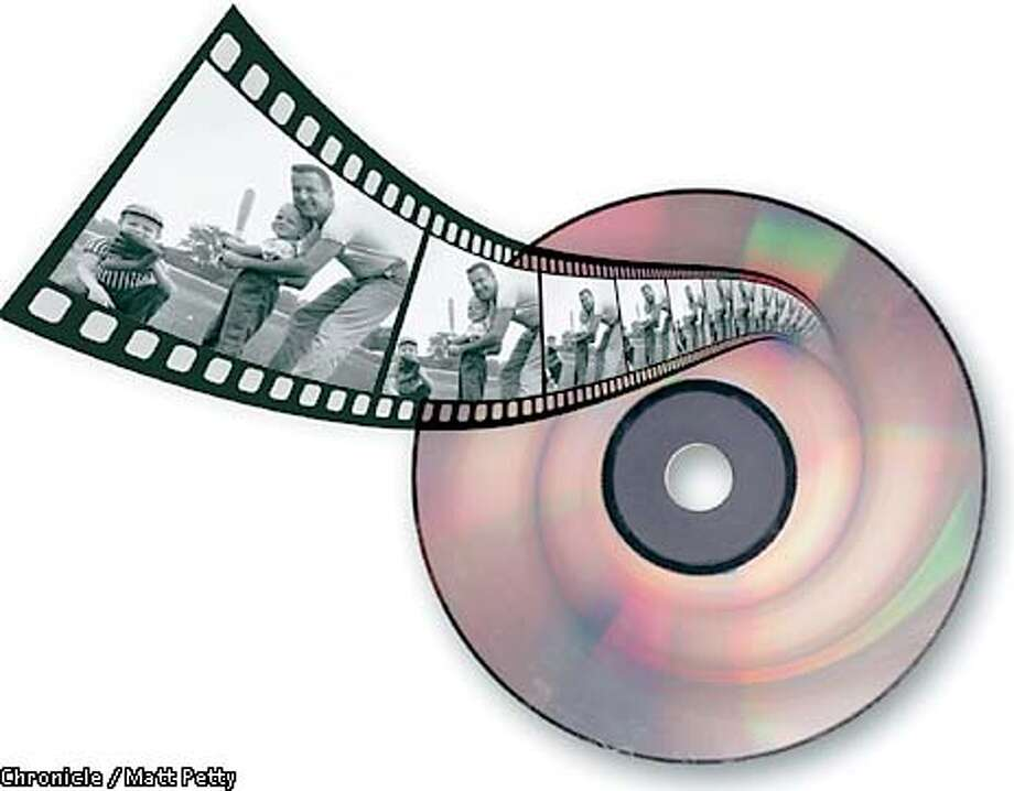 Sales of recordable DVDs expected to heat up, thanks to home movies. Chronicle illustration by Matt Petty