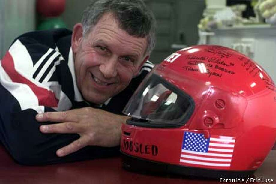 Byron Craighead received an autographed helmet from the U.S. men's bobsled team in 1993. Chronicle photo by Eric Luse