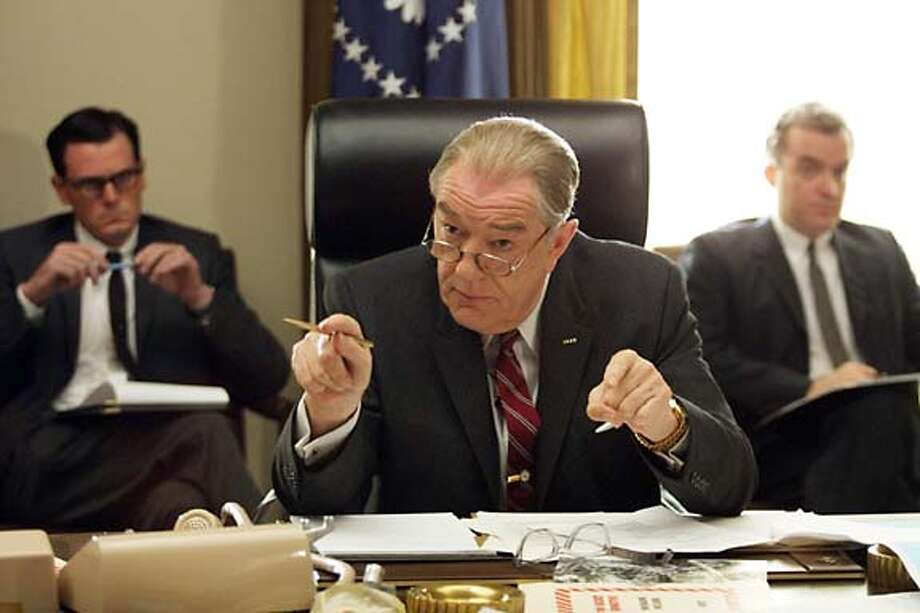 "Michael Gambon as Lyndon B. Johnson in ""Path to War."""