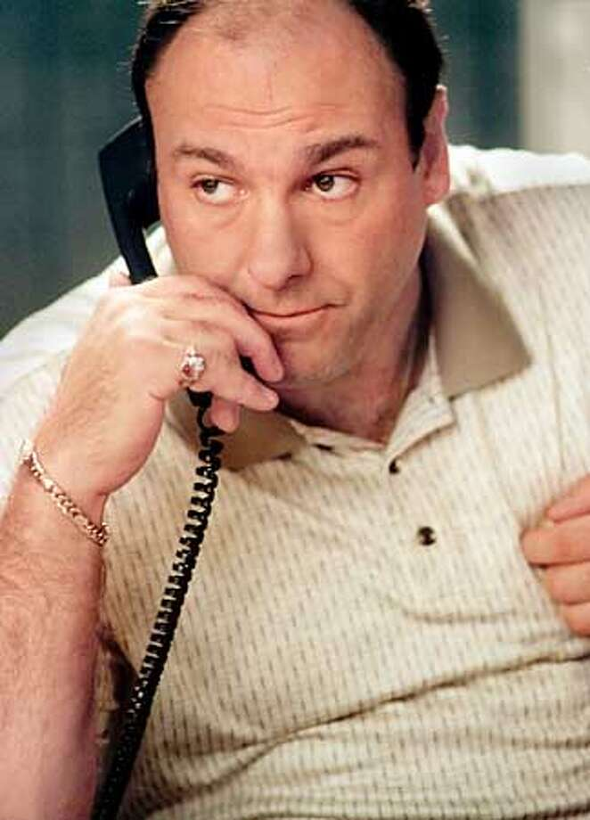 """Actor James Gandolfini, one of the stars of the hit drama television series """" """" is shown in a scene from the series which begins a new season on HBO March 4, 2001. Barry Wetcher/HBO/Handout Photo: HO"""
