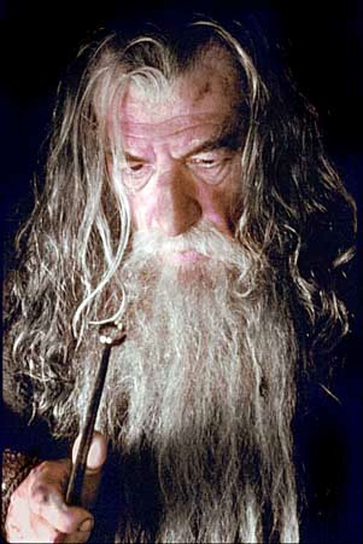 Ian McKellen plays the wizard Gandalf in director Peter Jackson's adaptation of the first book of J.R.R. Tolkien's trilogy