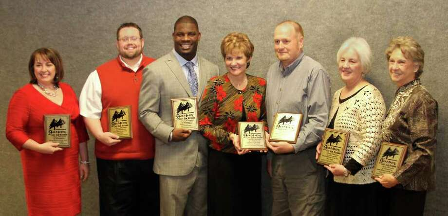 Young Person of the Year Jennifer Job-Seale, Newcomer of the Year Fred Willis, Hometown Hero Sean Weatherspoon, Citizen of the Year Debra Wiggand, Chamber Member of the Year Randall Dally, Small Business of the Year Jane Spencer (The Cottage,) and Chamber Embassy of the Year Nina Messersmith