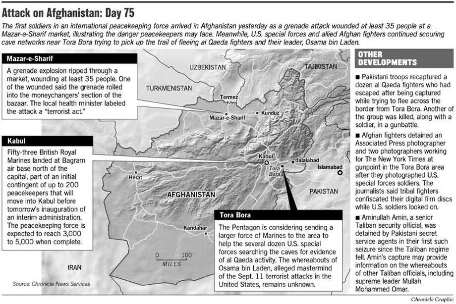 Attack on Afghanistan: Day 75. Chronicle Graphic