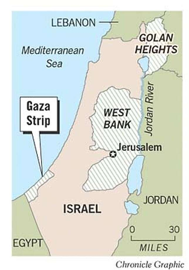 Gaza Strip. Chronicle Graphic