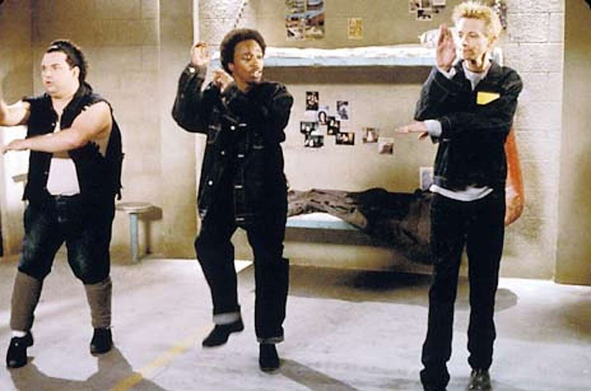 THIS IS A HANDOUT IMAGE. PLEASE VERIFY RIGHTS. Left to right: Horatio Sanz as Jose, Eddir Griffith as Luther and DJ Qualls as Dizzy in THE NEW GUY.