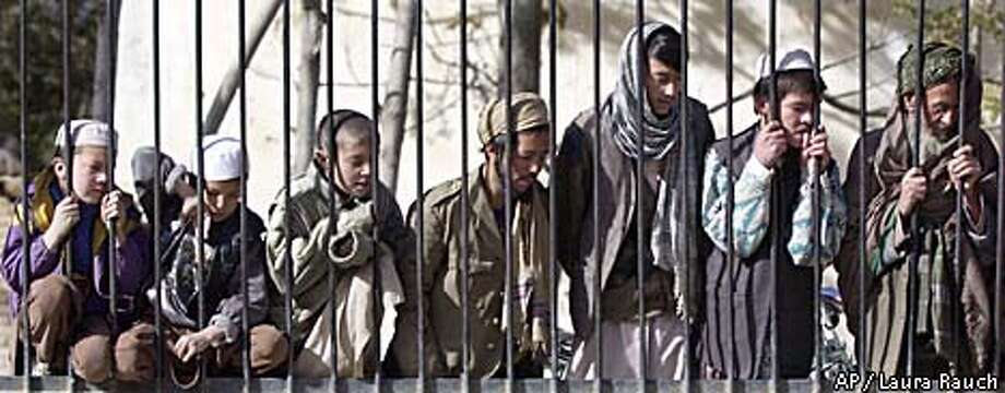 Visitors at the Kabul Zoo peered through cage bars to see Marjan, the zoo's aging lion, who was injured by a grenade years ago. Associated Press photo by Laura Rauch