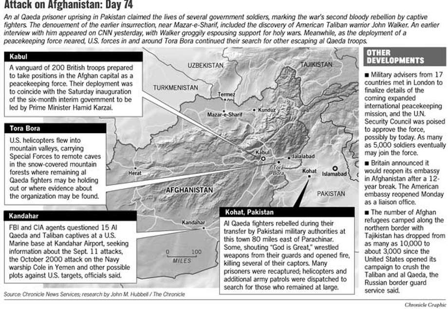 Attack on Afghanistan: Day 74. Chronicle Graphic