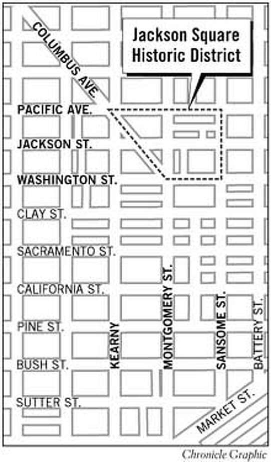 Jackson Square Historical District. Chronicle Graphic