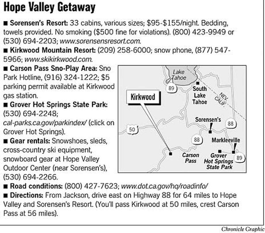 Hope Valley Getaway. Chronicle Graphic