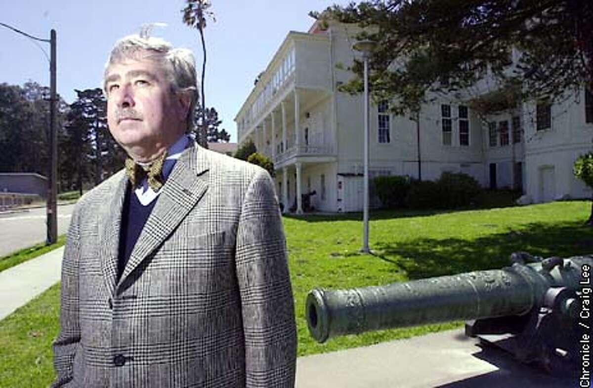 Randolph Delehanty, Presidio Trust Historian. Photo of him at the Presidio. Photo by Craig Lee/San Francisco Chronicle