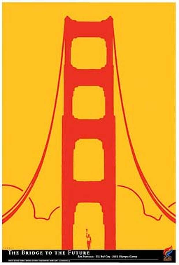 THIS IS A HANDOUT IMAGE. PLEASE VERIFY RIGHTS. One of four poster for the Olympic Games, if the are awarded to San Francisco. This one is by Michael Schwab. HANDOUT.