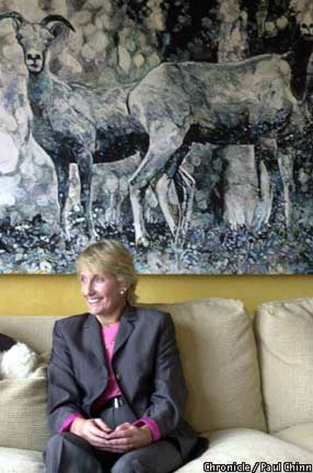Nancy Bechtle at her Presidio Heights home: After 14 years as Symphony board president, it's time to move on. Chronicle photo by Paul Chinn