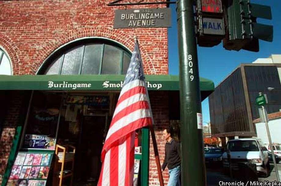 The Burlingame Smoke Shop, one of the remaining mom-and-pop establishments. Chronicle photo by Mike Kepka