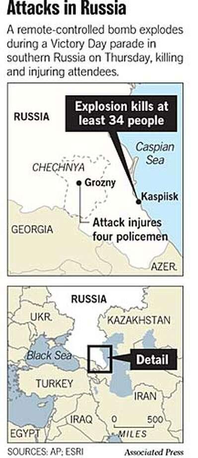 Attacks In Russia. Associated Press Graphic