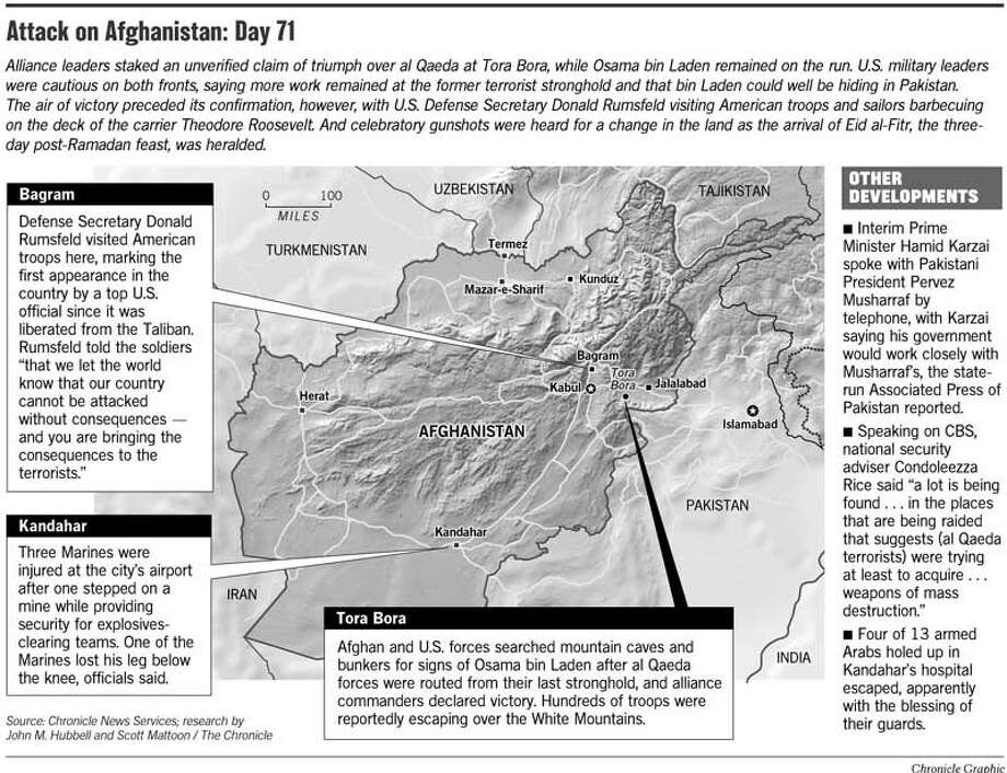Attack on Afghanistan: Day 71. Chronicle Graphic