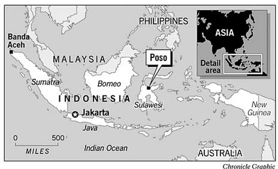 Poso, Indonesia. Chronicle Graphic