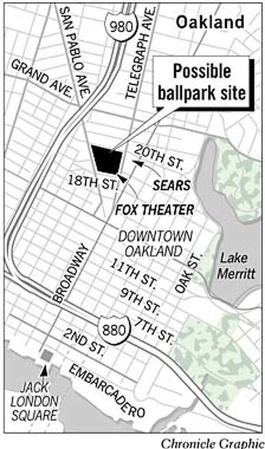 Possible Ballpark Site. Chronicle Graphic
