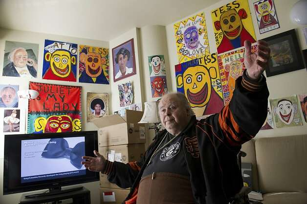 Artist Gary Arlington sits for a photograph in his home on January 21, 2012 in San Francisco, Calif. Photo: David Paul Morris, Special To The Chronicle