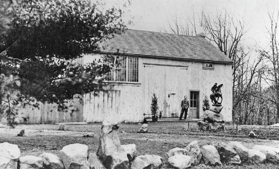 Silvermine Arts Center celebrates 90 years this year. Pictured is the original barn in the early 20th century. Photo: Contributed Photo