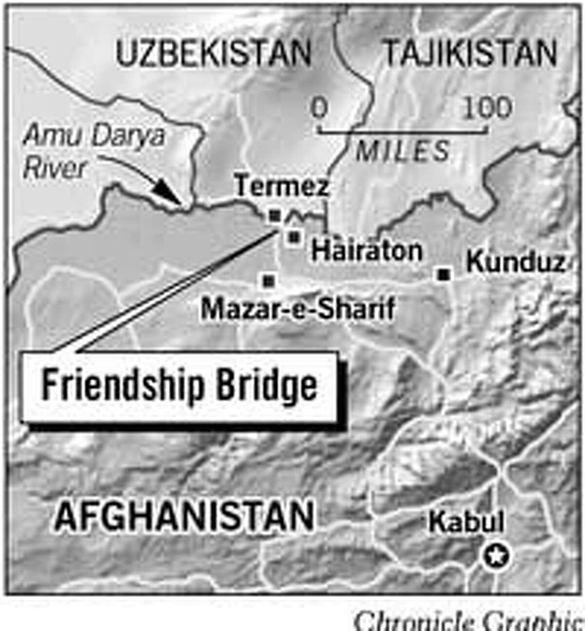 Friendship Bridge. Chronicle Graphic
