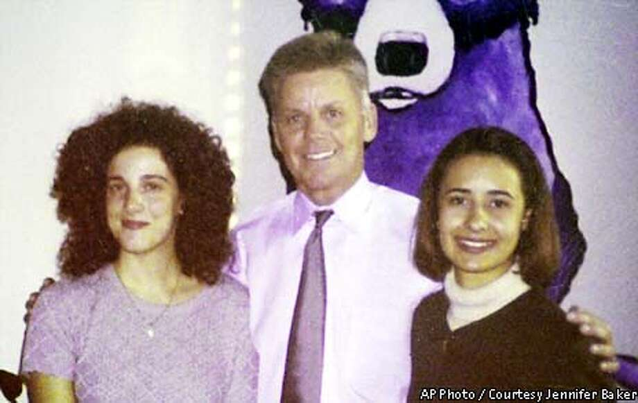 Chandra Ann Levy, left, poses for a photo with Rep. Gary Condit, D-Calif., and her friend Jennifer Baker in this November 2000 photo released by Baker, in the congressman's office in Washington. Levy vanished April 30, 2001 after completing a federal internship in Washington. Condit was interviewed by police seeking clues from people who knew the . He has helped set up a reward fund. (AP Photo/Courtesy Jennifer Baker via The Modesto Bee) EDS. NOTE: MUST PUBLISH SHOWING ALL THREE PERSONSPER RELEASE AGREEMENT WITH JENNIFER BAKER.