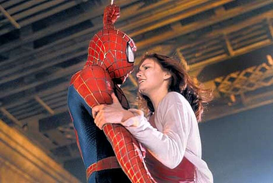 """SPIDER MAN"": TOBEY MAGUIRE AND KIRSTEN DUNST Photo: HO"
