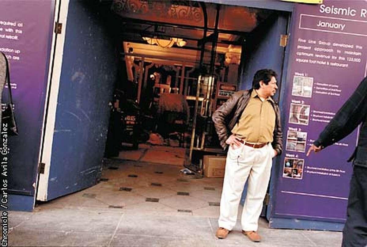 Santos Nic seeks work in downtown San Francisco. Chronicle photo by Carlos Avila Gonzalez