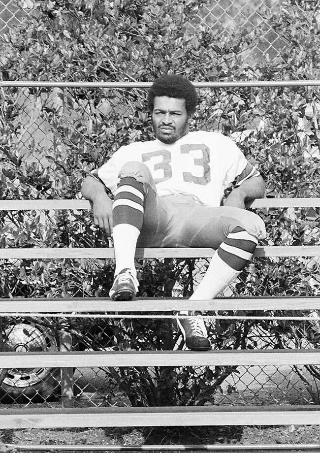 Dallas Cowboy running back Duane Thomas sits along on bleachers at the Cowboys training camp in New Orleans. Thomas refuses to pose for any pictures or interviews by sports writers. The Cowboys meet the Miami Dolphins in the Super Bowl. (AP Photo) Photo: Anonymous