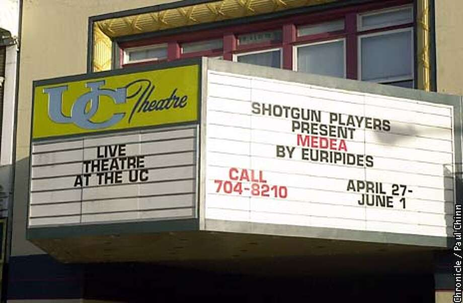 "The theater marquee outside has come to life again just like the auditorium inside. The Shotgun Players theater group is staging ""Medea"" at the UC Theater in Berkeley for a six week run.  PAUL CHINN/S.F. CHRONICLE Photo: PAUL CHINN"